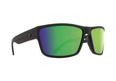 Sonnenbrille SPY ROCKY - Matte Black - Green Spectra