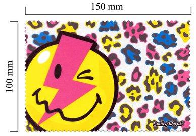 Mikrofaser Brillenputztuch Smiley  – das Blitz