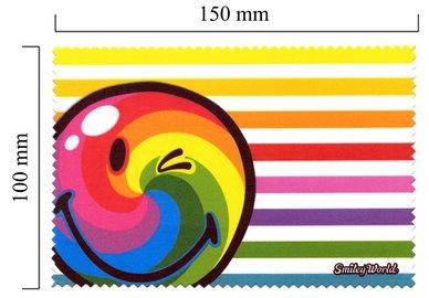 Mikrofaser Brillenputztuch Smiley  – Regenbogen
