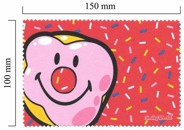 Mikrofaser Brillenputztuch Smiley  – der Clown
