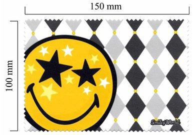Mikrofaser Brillenputztuch Smiley  – Stern