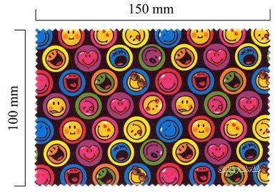 Mikrofaser Brillenputztuch Smiley  – Smiley schwarz
