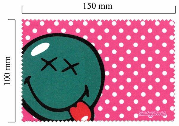 Mikrofaser Brillenputztuch Smiley  – Zunge raus