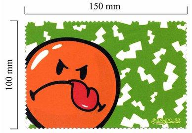 Mikrofaser Brillenputztuch Smiley  – Smiley grün