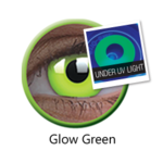 ColorVue Crazy Kontaktlinsen UV leuchtend - Glow Green (2 St. Jahreslinsen) – ohne Stärke