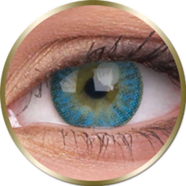 Phantasee Natural - Blue (2 St. 3-Monatlinsen) - ohne Stärke