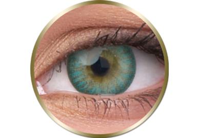 Phantasee Natural - Turquoise (2 St. 3-Monatlinsen) - ohne Stärke