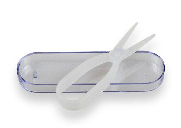Zangen – Pinzette für Kontaktlinsen mit Behälter – transparent
