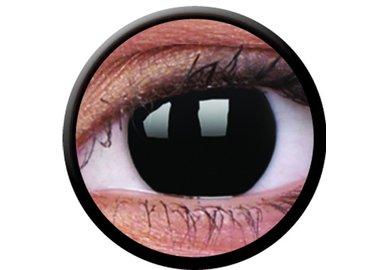 ColorVue Crazy-Kontaktlinsen - Blackout (2 St. Tageslinsen) – ohne Stärke