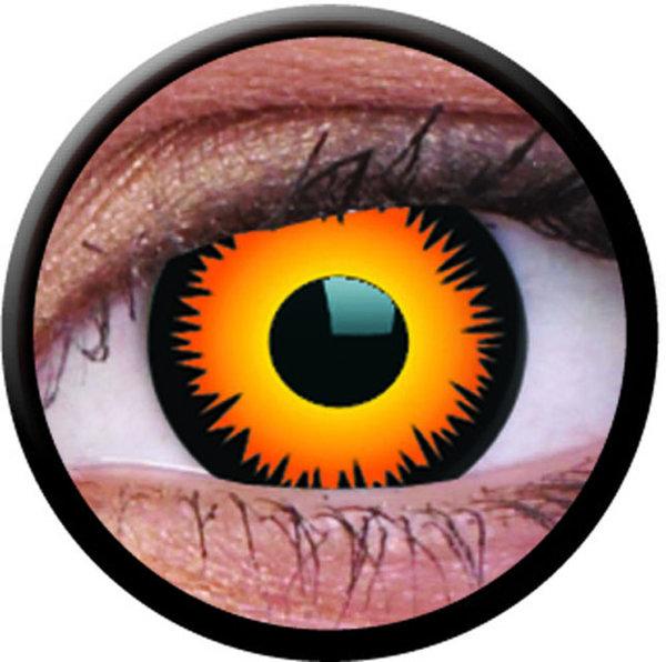 ColorVue Crazy-Kontaktlinsen - Orange Werewolf (2 St. Tageslinsen) – ohne Stärke