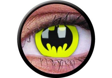 ColorVue Crazy Kontaktlinsen - Batman (2 St. Jahreslinsen) – ohne Stärke