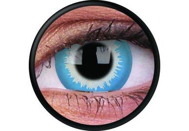 ColorVue Crazy Kontaktlinsen - Blue Elf (2 St. Jahreslinsen) – ohne Stärke