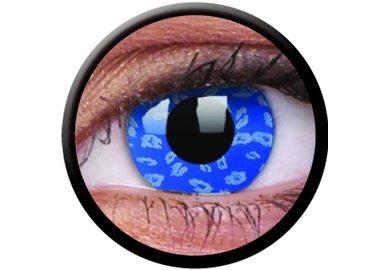 ColorVue Crazy Kontaktlinsen - Blue Leopard  (2 St. Jahreslinsen) – ohne Stärke