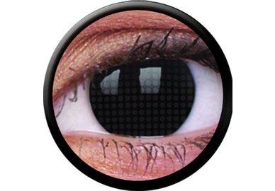ColorVue Crazy Kontaktlinsen - Black Screen (2 St. Jahreslinsen) – ohne Stärke