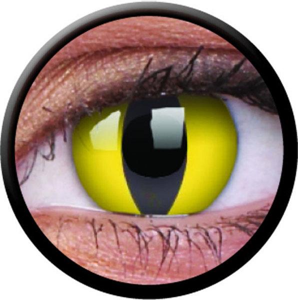 ColorVue Crazy Kontaktlinsen - Cat Eye (2 St. Jahreslinsen) – ohne Stärke