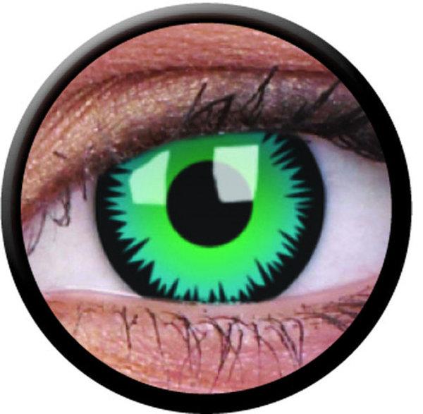 ColorVue Crazy Kontaktlinsen - Green Werewolf (2 St. Jahreslinsen) – ohne Stärke