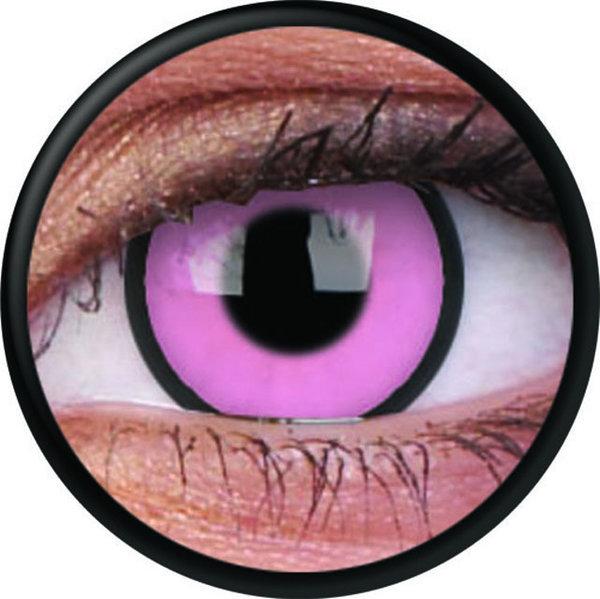 ColorVue Crazy Kontaktlinsen - Hot Pink (2 St. Jahreslinsen) – ohne Stärke