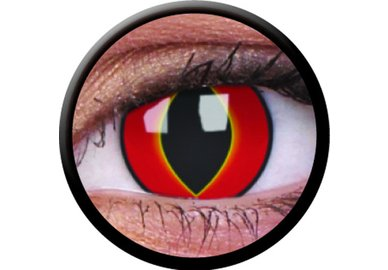 ColorVue Crazy Kontaktlinsen - Mad Frog (2 St. Jahreslinsen) – ohne Stärke