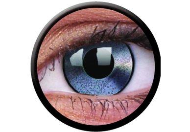 ColorVue Crazy Kontaktlinsen - Mirror Silve (2 St. Jahreslinsen) – ohne Stärke