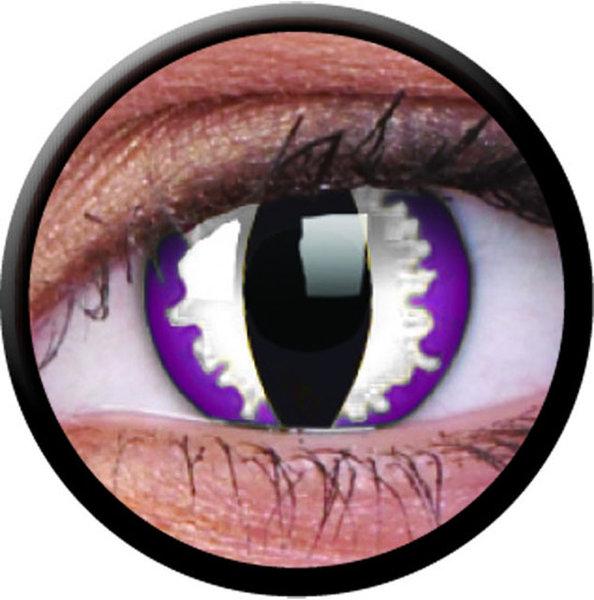 ColourVue Crazy Kontaktlinsen - Purple Dragon (2 St. Jahreslinsen) – ohne Stärke