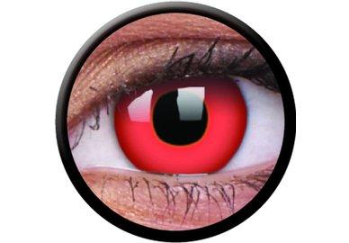 ColourVue Crazy Kontaktlinsen - Red Devil (2 St. Jahreslinsen) – ohne Stärke