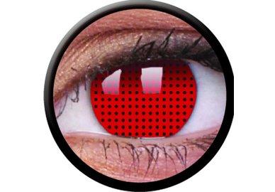 ColourVue Crazy Kontaktlinsen - Red Screen (2 St. Jahreslinsen) – ohne Stärke