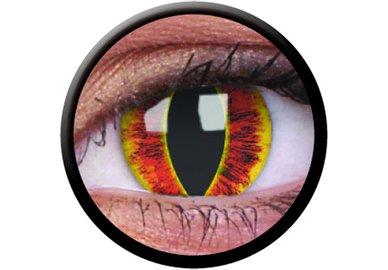 ColourVue Crazy Kontaktlinsen - Saurons Eye (2 St. Jahreslinsen) – ohne Stärke