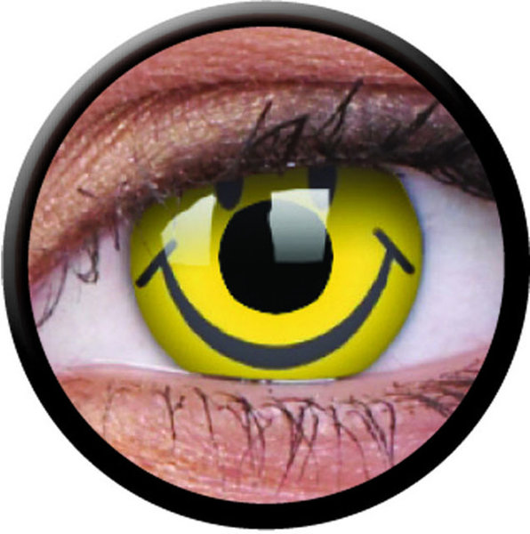 ColourVue Crazy Kontaktlinsen - Smiley (2 St. Jahreslinsen) – ohne Stärke