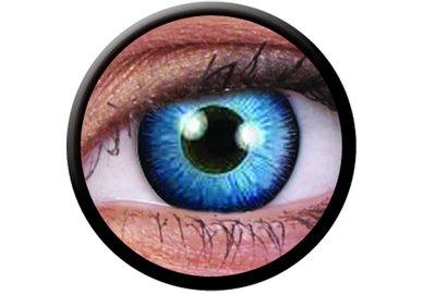 ColourVue Crazy Kontaktlinsen - Space Blue (2 St. Jahreslinsen) – ohne Stärke