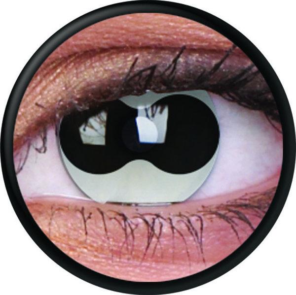 ColourVue Crazy Kontaktlinsen - Split Eye (2 St. Jahreslinsen) – ohne Stärke