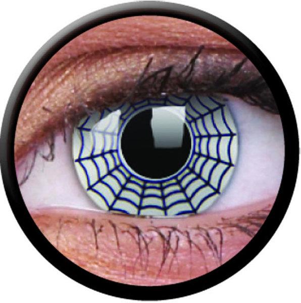 ColourVue Crazy Kontaktlinsen - Spider (2 St. Jahreslinsen) – ohne Stärke