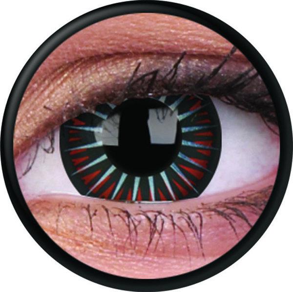 ColourVue Crazy Kontaktlinsen - Symbiote (2 St. Jahreslinsen) – ohne Stärke-exp.02/21