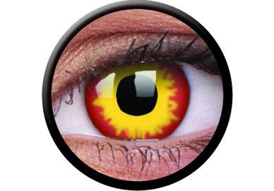 ColourVue Crazy Kontaktlinsen - WildFire (2 St. Jahreslinsen) – ohne Stärke
