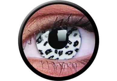ColourVue Crazy Kontaktlinsen - White Leopard (2 St. Jahreslinsen) – ohne Stärke - exp.04/2020