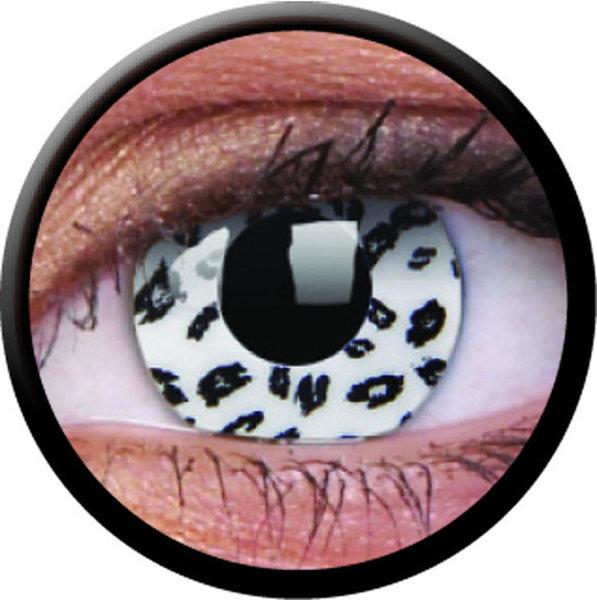 ColourVue Crazy Kontaktlinsen - White Leopard (2 St. Jahreslinsen) – ohne Stärke