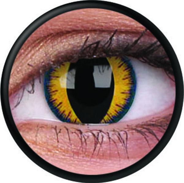 ColourVue Crazy Kontaktlinsen - Wolf Moon (2 St. Jahreslinsen) – ohne Stärke