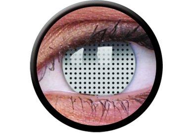 ColourVue Crazy Kontaktlinsen - White Screen (2 St. Jahreslinsen) – ohne Stärke