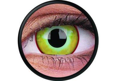 ColourVue Crazy Kontaktlinsen - Yellow Plague (2 St. Jahreslinsen) – ohne Stärke