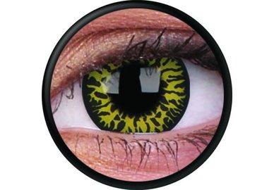 ColourVue Crazy Kontaktlinsen - Yellow Eclipse (2 St. Jahreslinsen) – ohne Stärke