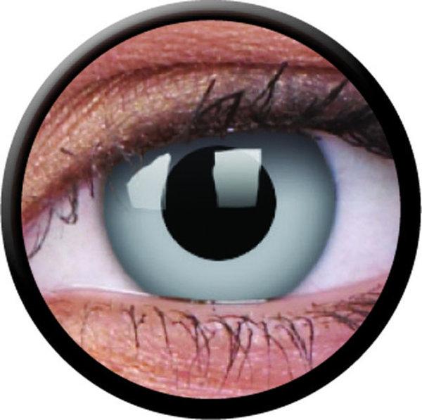 ColourVue Crazy Kontaktlinsen - Zombie Grey (2 St. Jahreslinsen) – ohne Stärke