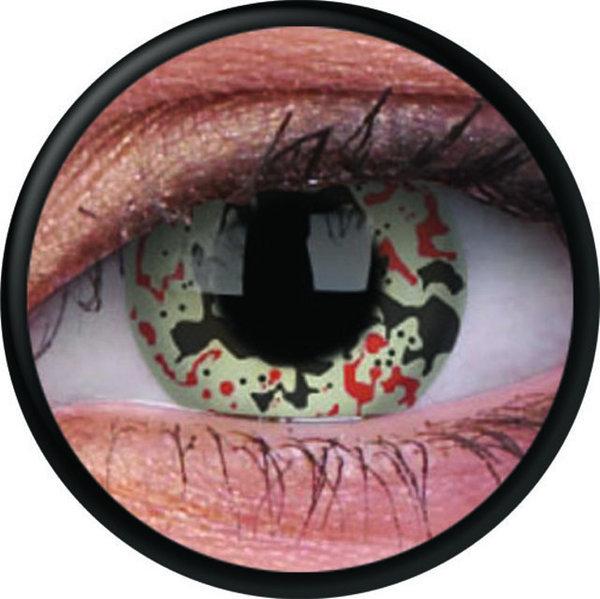 ColorVue Crazy-Kontaktlinsen - Alien Nation (2 St. 3-Monatslinsen) – ohne Stärke
