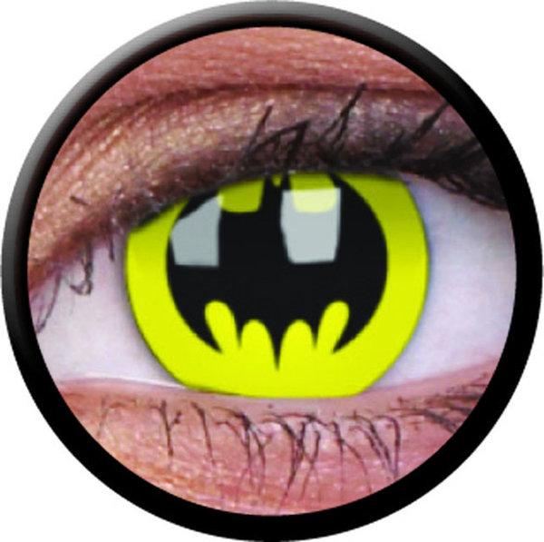 ColorVue Crazy-Kontaktlinsen - Bat Crusader (Batman) (2 St. 3-Monatslinsen) – ohne Stärke