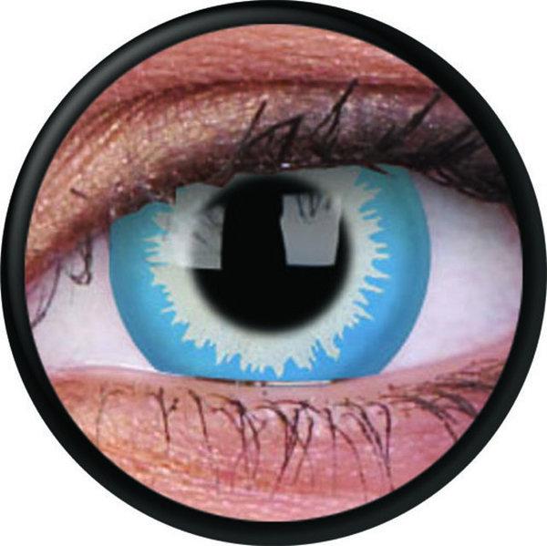 ColorVue Crazy-Kontaktlinsen - Blue Elf (2 St. 3-Monatslinsen) – ohne Stärke