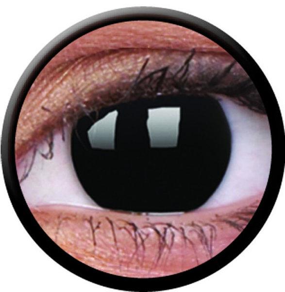 ColorVue Crazy-Kontaktlinsen - BlackOut (2 St. 3-Monatslinsen) – mit Stärke