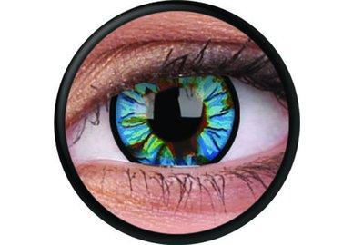 ColorVue Crazy-Kontaktlinsen - Blue Streak (2 St. 3-Monatslinsen) – ohne Stärke