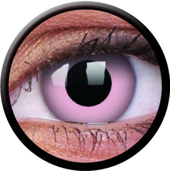 ColorVue Crazy-Kontaktlinsen - Barbie Pink (2 St. 3-Monatslinsen) – ohne Stärke