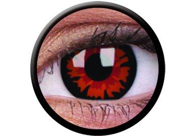 ColorVue Crazy-Kontaktlinsen - Demon (Volturi) (2 St. 3-Monatslinsen) – mit Stärke