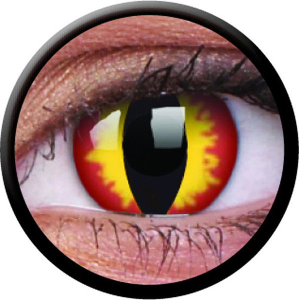 ColorVue Crazy-Kontaktlinsen - Dragon Eyes (2 St. 3-Monatslinsen) – ohne Stärke