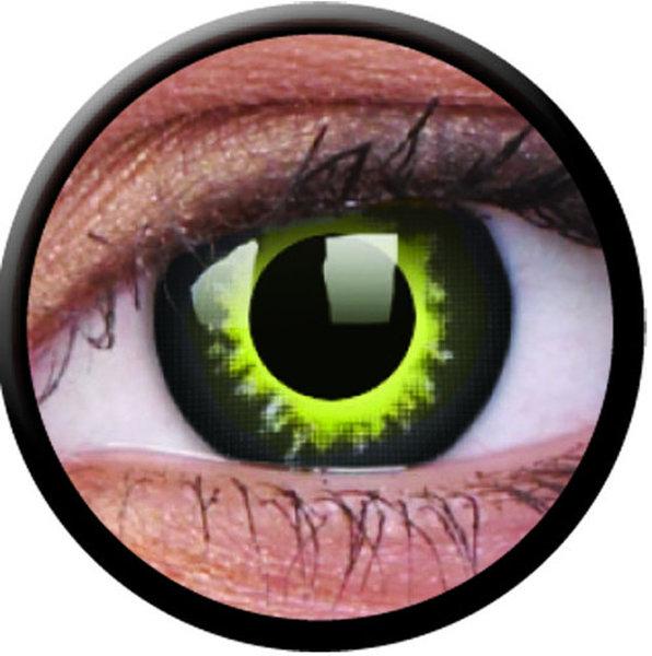 ColorVue Crazy-Kontaktlinsen - Eclipse (2 St. 3-Monatslinsen) – ohne Stärke