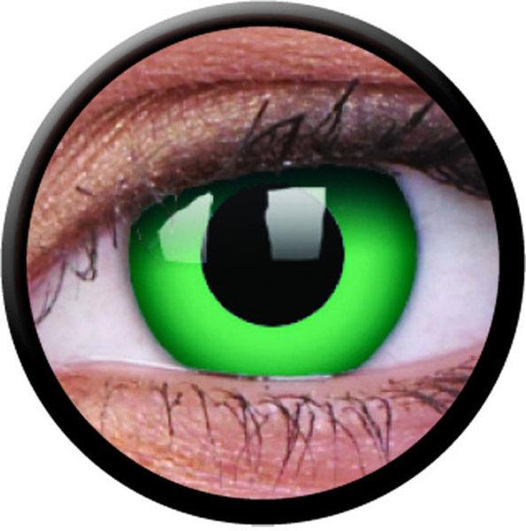 ColorVue Crazy-Kontaktlinsen - Emerald (2 St. 3-Monatslinsen) – ohne Stärke